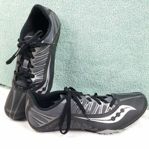 saucony track racing cleat shoes sz 11